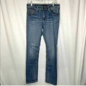 VGS Womens Straight Leg Jeans Size 8 Distressed
